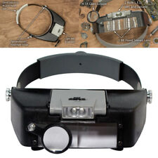 LED Power Light Head Magnifier Jewelry Watches Headset Headband Visor Glasses