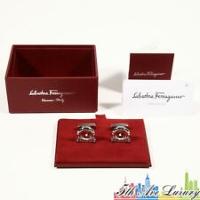 $270 NEW 100% AUTHENTIC MEN'S SALVATORE FERRAGAMO GANCINI CUFFLINKS CUFF LINKS