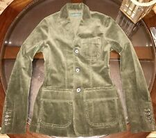 Ralph Lauren Womens Custom Hacking Corduroy Sport Coat Jacket Sz Med Olive Green