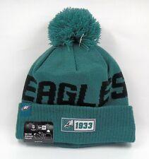 New Era Cap Men's NFL Philadelphia Eagles On Field Winter Knit Bobble Beanie Hat
