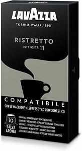 100 Capsule Lavazza Compatibili Nespresso Caffè Espresso Miscela Ristretto