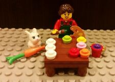 Lego NEW Easter Egg Decorating Set With Female Minifigure And Bunny Rabbit
