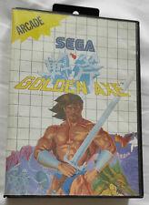 Sega Master System: GOLDEN AXE - cartouche de jeu + jaquette + boite SANS NOTICE