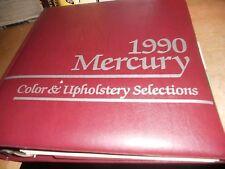 1990 MERCURY COUGAR SABLE GRAND MARQUIS 1991 CAPRI DEALER ALBUM COLOR