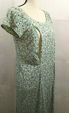 Breastfeeding Nursing Dress Size Small Floral Green Blue Purple