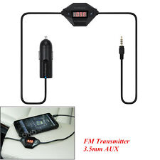 Car SUV Wireless FM Transmitter Audio Stereo Adapter 3.5mm AUX & USB Charger Kit