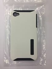 Incipio SILICRYLIC Hard Cover Double Case Shell Ultra-thin for iPhone 4 4S White