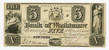 1835 $5 The Bank of Washtenaw - Ann-Arbor, MICHIGAN Note (Payable in New York)
