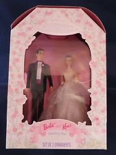 1997 Hallmark Keepsake Barbie & Ken Wedding Day Set of 2 Christmas Ornaments NIB