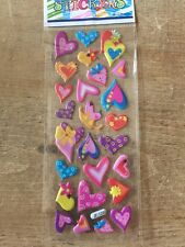 Puffy Sticker Heart Shapes - scrapbooking-card making-crafts-5 For 4!!