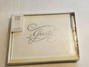 C R Gibson Wedding Guest Book & Pen - White NEW Made In USA 500 Guests