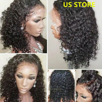 Glueless Curly Malaysian Virgin Human Hair Lace Front Wigs Full Wigs Baby Hair