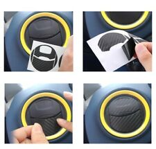 4Pcs Air Conditioner Outlet Carbon Fiber Sticker for Ford Fiesta Focus Mondeo