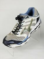 Mizuno Wave Renegade 4 White/Gold/Blue Running Shoes Sneakers Women's US 9.5