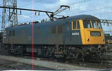 Electric Locomotive Class 84 84003 Crewe Depot 1979 unused OPC postcard