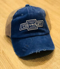 CHEVROLET Hat Cap Adjustable Chevy Mesh Embroidered Patch Style Racing Truck