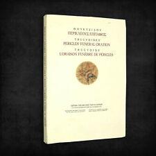 Pericles' Funeral Oration / L'Oraison Funebre de Pericles Thucydides 2008