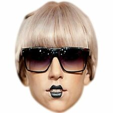 Lady Gaga (Glasses) Celebrity Mask, Card Face and Fancy Dress Mask
