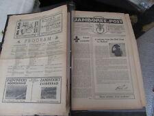1937 World Jamboree Set of Jamboree Post Newspapers in Dutch  k3