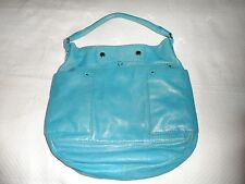 Marc by Marc Jacobs Preppy Leather Hillier Hobo Bag Aquamarine Blue