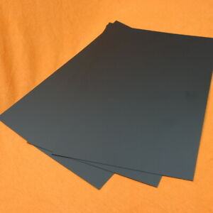 0.25mm to 3mm / 10th to 120th Black & White HIPS Plasticard / Styrene - A5 A4 A3