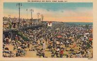 Postcard Boardwalk and Beach Coney Island NY
