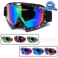 Cool Motocross Off Road Goggles Anti Fog Racing Dirt Bike Anti-UV MX Glasses