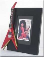 VINNIE VINCENT Miniature Guitar Frame  KISS