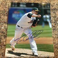 Trevor Cahill Signed 8x10 Photo Autograph Oakland Athletics A's
