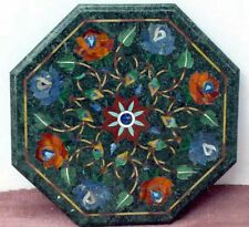 SIZE 3'X3' Marble corner center dining Table Top  Handmade Inlay Pietra Dura
