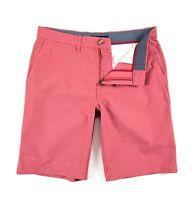 "TOMMY HILFIGER Shorts Men's Lightweight Red Tonal Stripe 10"" Shorts"