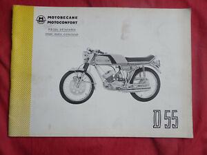 Motobécane D55 catalogue de pièces détachées spare parts Motoconfort 1975