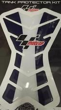 Almohadillas De Protector De Tanque Moto GP Motocicleta Azul Blanco CBR GSXR Hornet BANDIT ETC