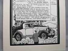 1927 Dodge Fast Four   Auto Pen Ink Hand Drawn  Poster Automotive Museum