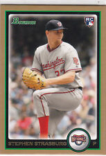 Stephen Strasburg 2010 BOWMAN GOLD ROOKIE CARD RC Washington Nationals INSERT RC
