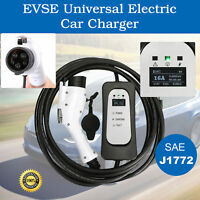 EV Charger Electric Car 16' Cord SAE J1772-EVSE UL Recognized Level 1