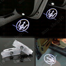 2x Led Light Door Projector Welcome Logo Emblem Kit For MASERATI LEVANTE 2016-19