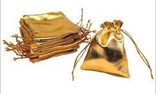 10 SACCHETTINI METALLIZZATI ORO confezioni sacchetti dorati bomboniere bustine