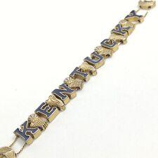 Vintage University Kentucky UK Wildcats Basketball Slide 2 Strand Charm Bracelet