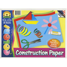 "Construction Paper Pad 12""X9""-36 Sheets - 6 Pack"
