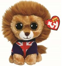Ty Beanie Babies 36055 Boos Hero the Lion Union Jack Boo