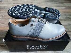 NEW 2021 FootJoy Dryjoys Premiere Packard Mens Golf Shoes Grey 10 Medium 53910