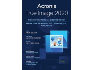 Acronis True Image 2020 USB Data Backup/Restore -Clone -Copy -Migrate incl SSD