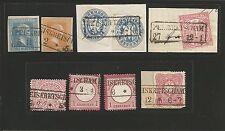 Preussen V. / PEISKRETSCHAM je Ra2 auf Pr. 11a, 12b, Briefstück m. 2 x 17a, NDP