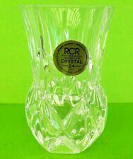 Royal Crystal Rock RCR Italy Genuine Lead Crystal Primula Bud Vase Vintage
