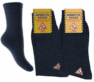 Herren Arbeits Socken Männer Arbeitssocken 39-42 43-46 100% Baumwolle Blau