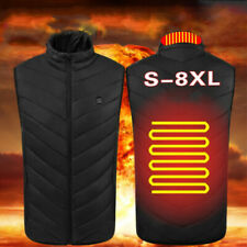 Electric Vest Heated Clothing Jacket USB Warm Up Heating Body Warmer Women Men