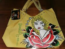Ed Hardy Veronica Hand bag / Beach Bag / Tote Bag Superb quality in Yellow BNWT