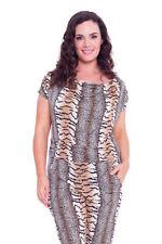 Women's Animal Print Short Sleeve Jumpsuits & Playsuits