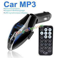 Wireless Car Kit MP3 Player FM Transmitter Remote USB/SD -blue color
